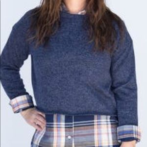 Navy Pullover by Agnes & Dora NWT